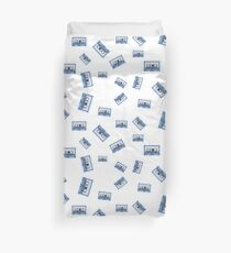 MUSIC CASSETTE TAPES PATTERN Duvet Cover