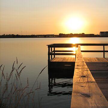 Sun Set Over the Dock by jwawrzyniak