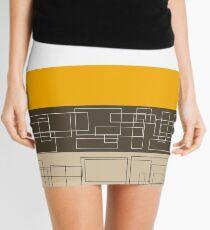 Yellow Stripe Mini Skirt