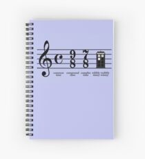 Wibbly-wobbly timey-wimey Spiral Notebook