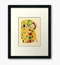 Klimt muppets Framed Print