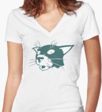 Somchai the Cat Women's Fitted V-Neck T-Shirt