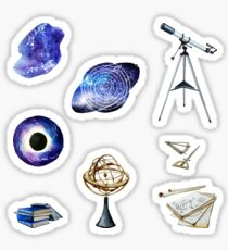 Watercolor astronomy collection  Sticker