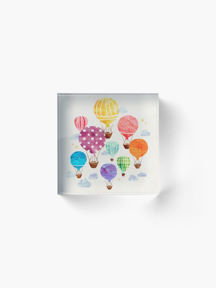Alternate view of Hot Air Balloon Acrylic Block