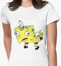 Mocking Spongebob Meme Women's Fitted T-Shirt