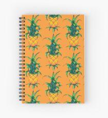 Pinapples! On Orange Spiral Notebook
