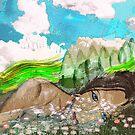 """Woman in a Landscape by Belinda """"BillyLee"""" NYE (Printmaker)"""