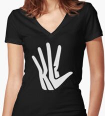 Kawhi Leonard Unofficial funny Women's Fitted V-Neck T-Shirt