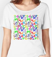 ABC -  Colourful letters Women's Relaxed Fit T-Shirt