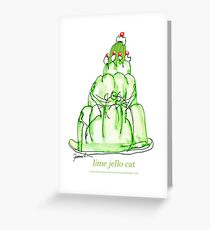 Lime Jello Cat, tony fernandes Greeting Card