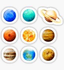Watercolor planets collection Sticker