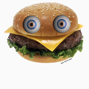 Burger Face by badteeth