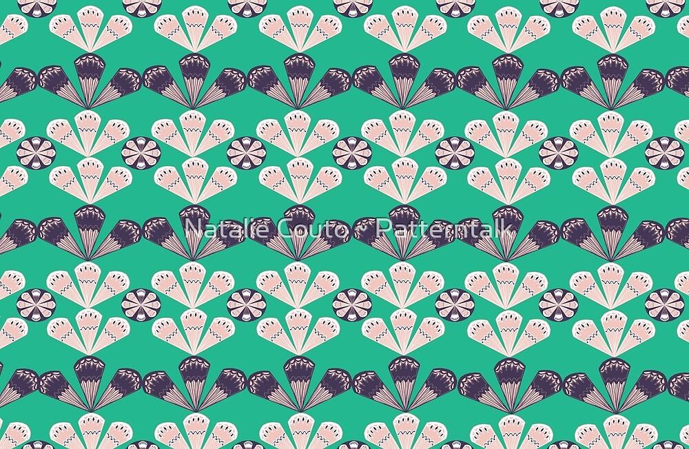 Fancy Fans- vert by Natalie Couto ~ Patterntalk
