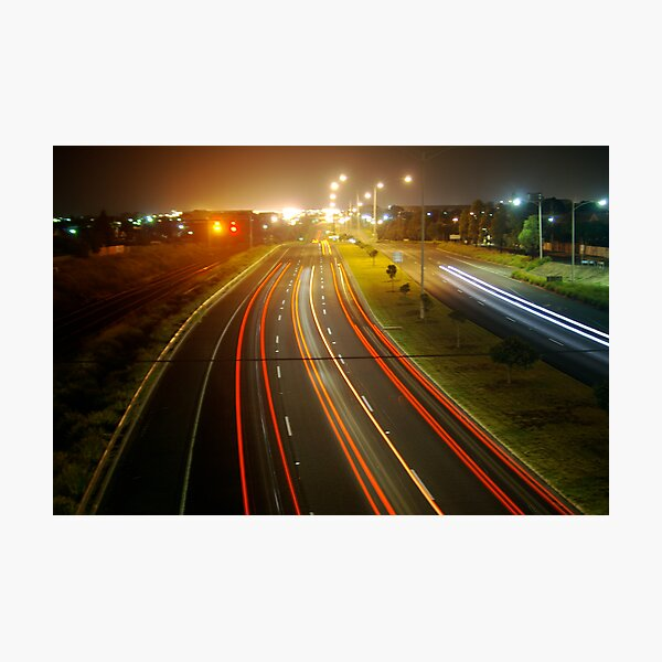 Highway lights Photographic Print