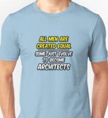 Funny Architect .. Evolution Unisex T-Shirt