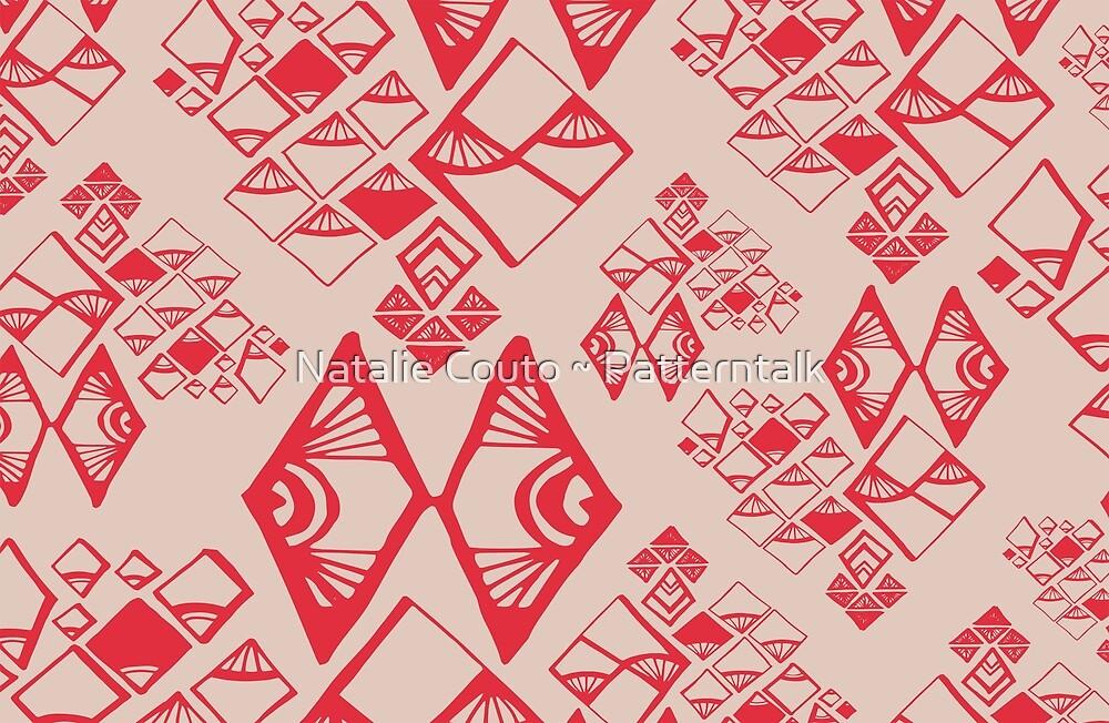 Aztec Diamonds Pale by Natalie Couto ~ Patterntalk