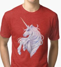 Cute watercolor unicorn Tri-blend T-Shirt