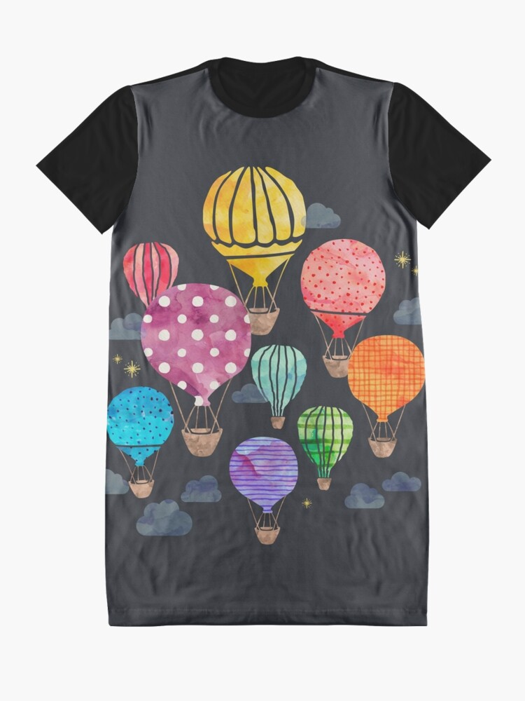 Alternate view of Hot Air Balloon Night Graphic T-Shirt Dress