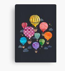 Hot Air Balloon Night Canvas Print