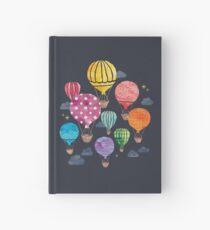 Heißluftballon Nacht Notizbuch
