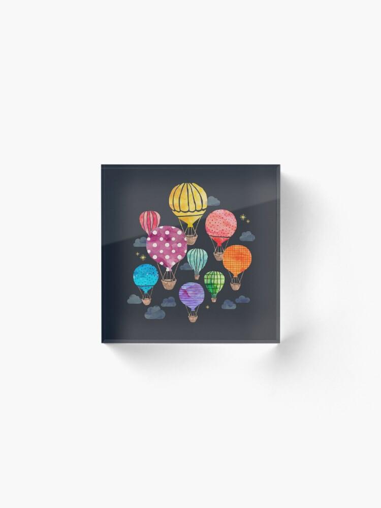 Alternate view of Hot Air Balloon Night Acrylic Block