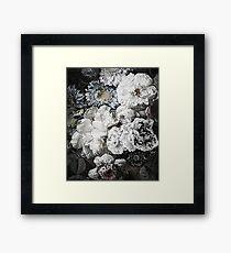 Shade of Grey Floral Framed Print