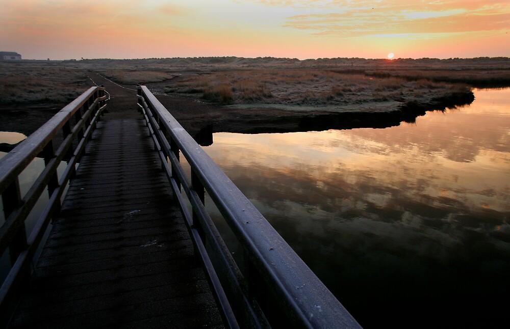 Walberswick sunrise by Laurence Grayson