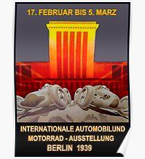 DEUTSCHE GRAND PRIX: Vintage 1939 Auto Racing Print Poster