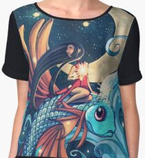 Festival of the Flying Fish Women's Chiffon Top