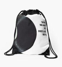 You Make My Heart Spin Drawstring Bag