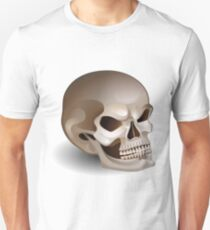 Graphic skull with fearful smile Unisex T-Shirt