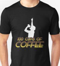 100 Cups of Coffee Funnt T Shirt Meme Unisex T-Shirt