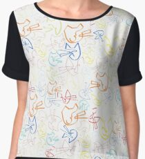Purrfect Picture Chiffon Top