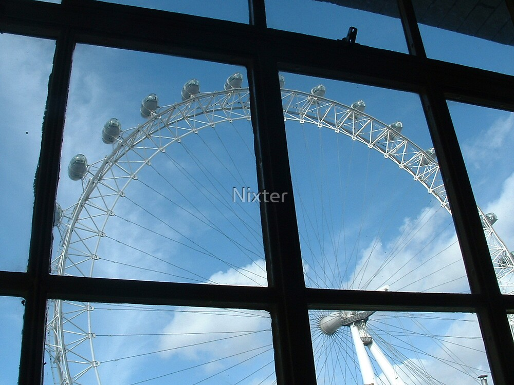 Eye through the window by Nixter