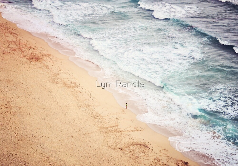 View of Pedn Vounder. by Lyn  Randle
