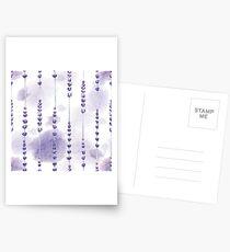 Watercolor lavender Postcards