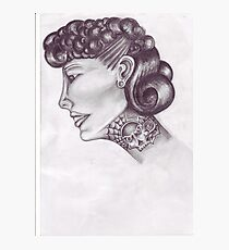 tattooed lady 50s style  Photographic Print