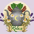 Calming tea in the moonlight by Wieskunde