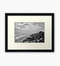 Mantoloking Beach in Black & White Framed Print