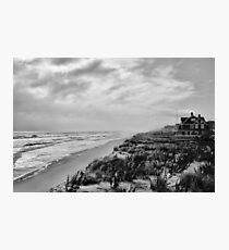 Mantoloking Beach in Black & White Photographic Print