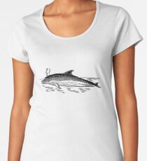Dolphin Drawing Women's Premium T-Shirt