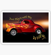 1940 Willys Coupe 'Jus Play'n' Sticker