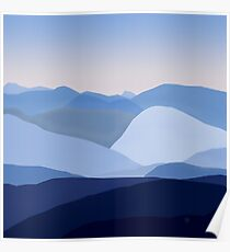 Blue C. Montains Poster
