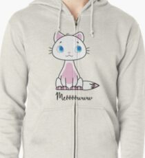 Cathy the cat Zipped Hoodie