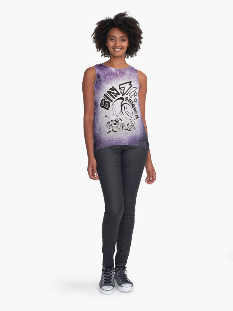 Alternate view of Bin Chicken Metal Style - Colour Sleeveless Top
