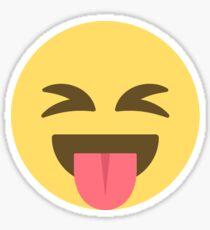 Crazy Tongue Out Emoji Face  Sticker