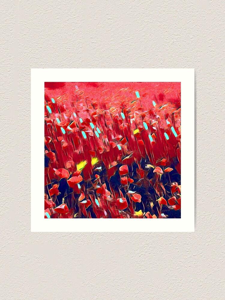 Alternate view of Magical poppy field Art Print