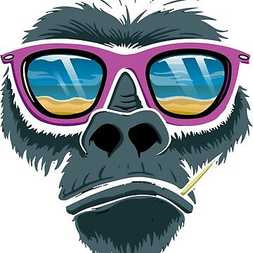 Monkey Funny T-Shirt by CascudoGifts
