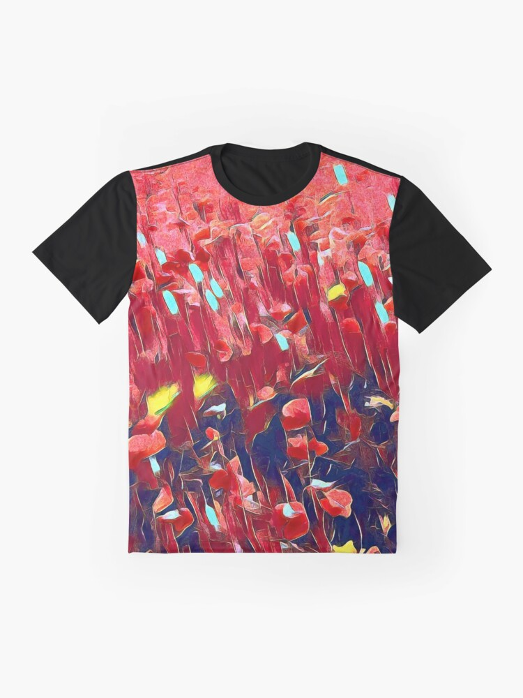Alternate view of Magical poppy field Graphic T-Shirt