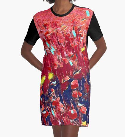 Magical poppy field Graphic T-Shirt Dress